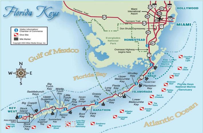 Carte d'une partie de la Floride