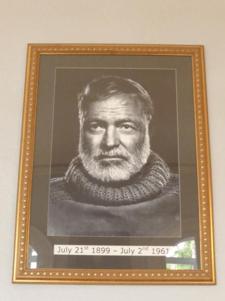 Ernest Hemingway tableau