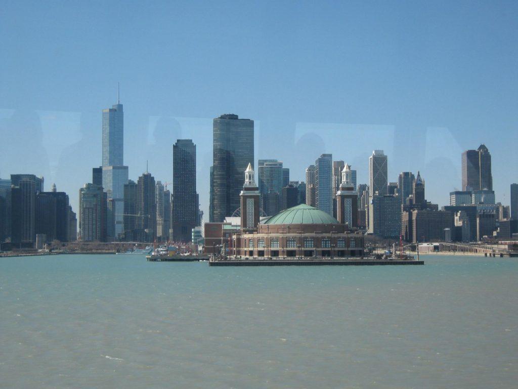 Jolie vue sur la rivière de Chicago