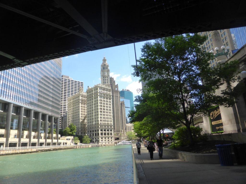 Jolie balade dans les rue de Chicago