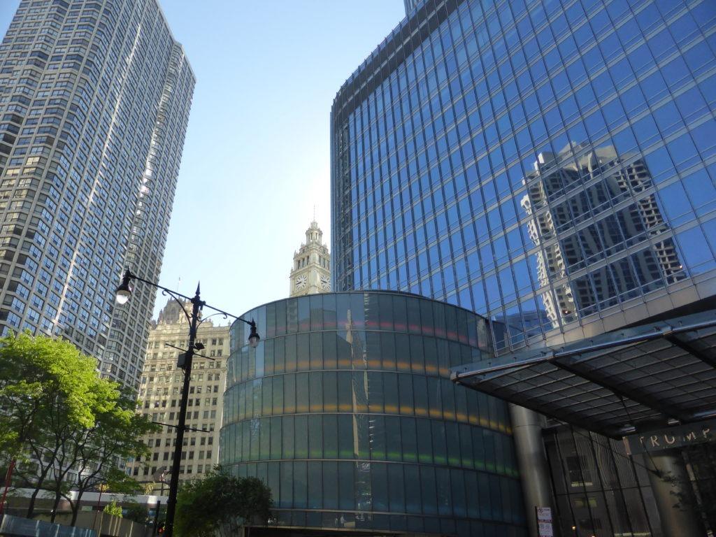 Belle photo d'un quartier à Chicago