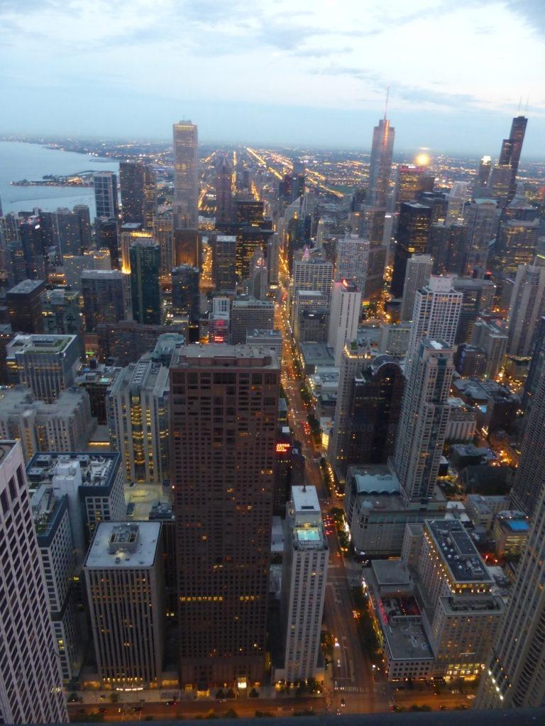 Vue splendide sur les buildings de Chicago